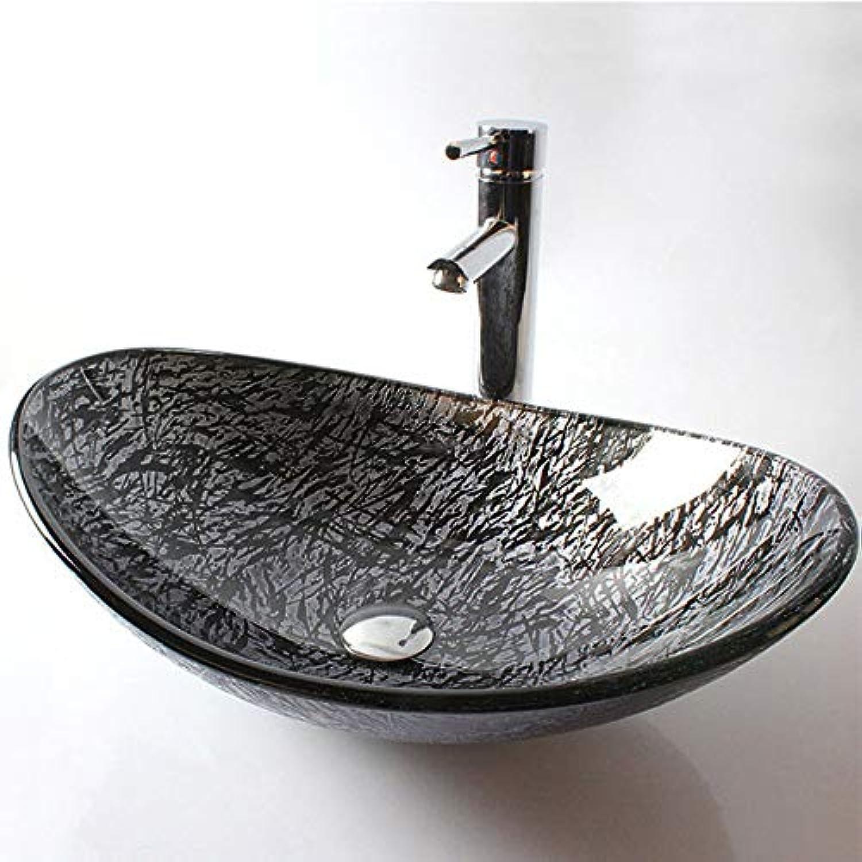 Lxylllzs Badezimmer Garderobe Glas Waschbecken Waschbecken Waschbecken 2 Mglichkeiten, B