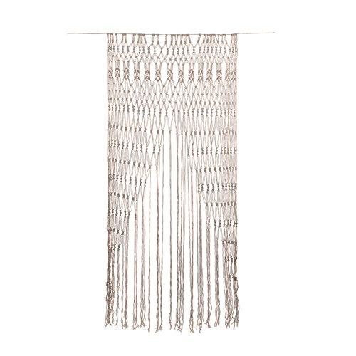 Großer Wandbehang / Vorhang, von Hand geknüpft, Makramee-Arbeit aus Baumwolle, ideal als Hintergrund für Trauungen und Partys oder als Vorhang für Türen.