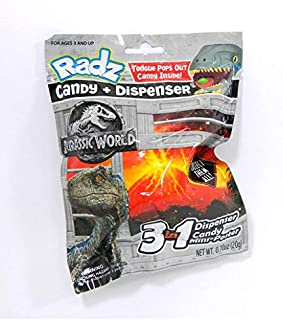 Radz Jurassic World Fallen Kingdom Candy + Dispenser Bling Bag
