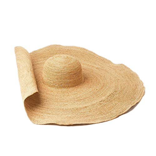 KCJMM-HAT Pamelas para Mujer para Hombre Sombrero de Paja