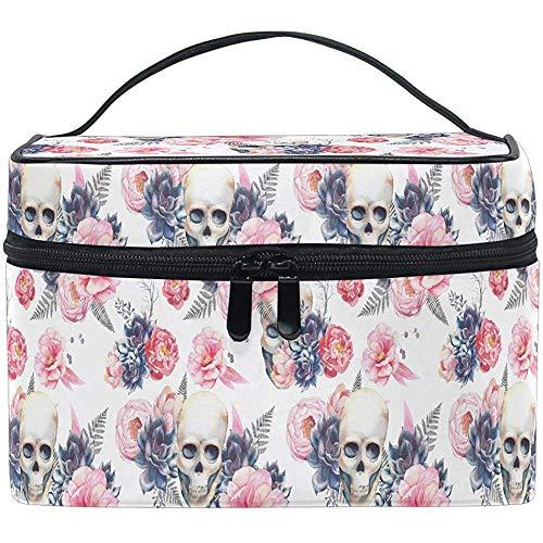 Día de los Muertos Sugar Skull Cosmetic Bag Travel Cosmetic