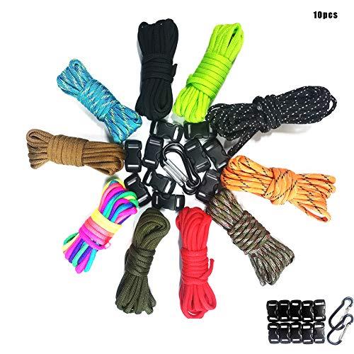 Tang M.Dynasty Paracord Schnur, Multifunktion Paracord Set Seile, Langlebiges Armband Set Seile Schnüre,Gewebte Armbänder, Hundehalsbänder usw. Geeignet zum Wandern