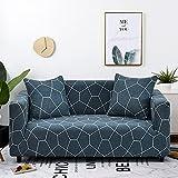 WXQY Sala de Estar geométrica combinación de Funda de sofá elástica en Forma de L sofá de Esquina Funda Protectora Antideslizante Funda de sofá elástica A6 3 plazas
