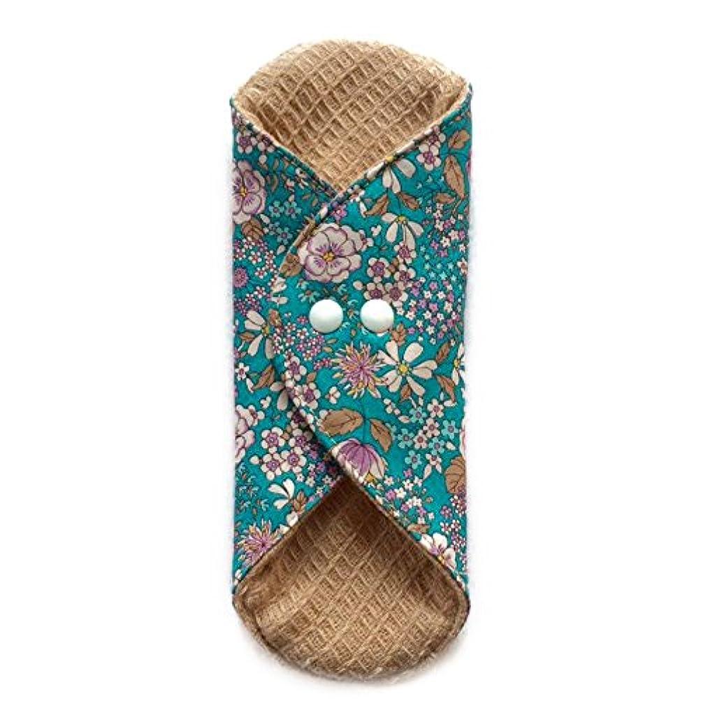 むちゃくちゃ虹適用する華布のオーガニックコットンの極み あたため布 Mサイズ (約15×約15×約0.6cm) 雅(ターコイズ)