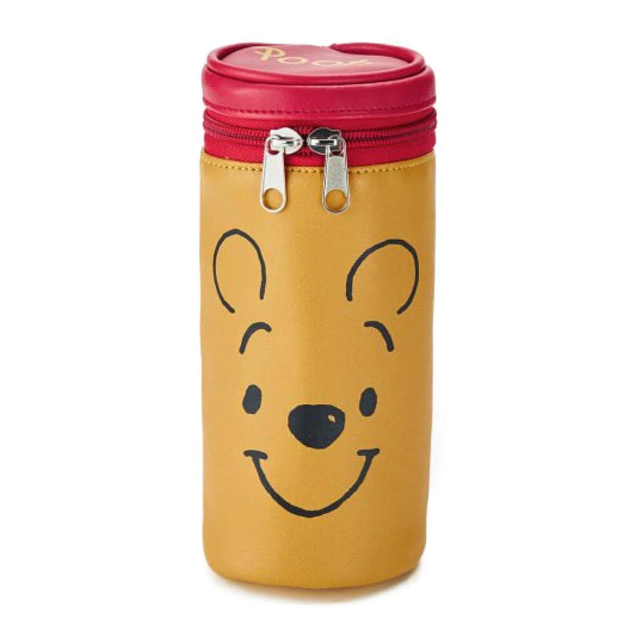 オープナーけがをするスナック[ベルメゾン]ディズニー ポーチ 小物入れ 筒型マルチポーチ カラー くまのプーさん(イエロー)