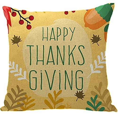 Federa per cuscino per divano, cuscino per il Ringraziamento, preservativo, con scritta in lingua...