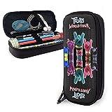 TRO-lls World to-ur Tiny Dancers Barb Reino Unido Pop TV Merchandise Rock Trolls l Estuche de maquillaje bolsa de plástico para cosméticos, colección de hombres, mujeres, adultos