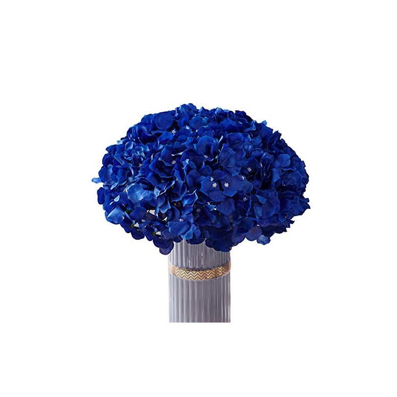 silk flower arrangements atinart hydrangea silk flowers royal blue full artificial hydrangea flowers heads pack of 10 for home wedding party shop baby shower bridal shower bouquets table centerpiece decor