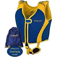 KWALITY Chaleco Ayuda Neopreno de natación para niños, Chaleco Flotador Unisex,con Exclusiva Adjustable Correa de Seguridad, flotabilidad Fija, Chaleco de Entrenamiento para niños.