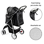 Display4top Pet Travel Stroller Dog Cat Pushchair Pram Jogger Buggy With 4 Wheels (Black) 14