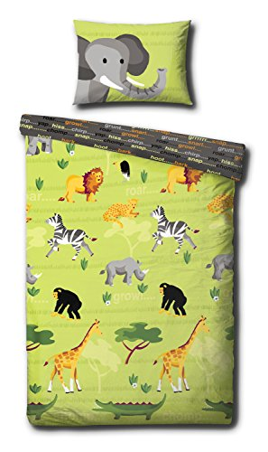 Children's Cot Bed/Junior Bed/Toddler Bed Duvet Cover and Pillowcase Sets - 120cm x 150cm (Wild Things)