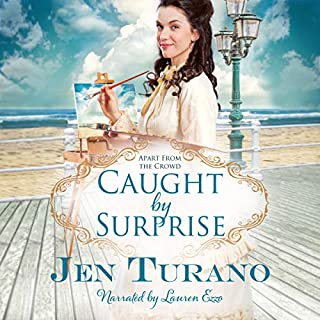 Caught by Surprise     Apart from the Crowd, Book 3              Written by:                                                                                                                                 Jen Turano                               Narrated by:                                                                                                                                 Lauren Ezzo                      Length: 11 hrs and 51 mins     1 rating     Overall 4.0