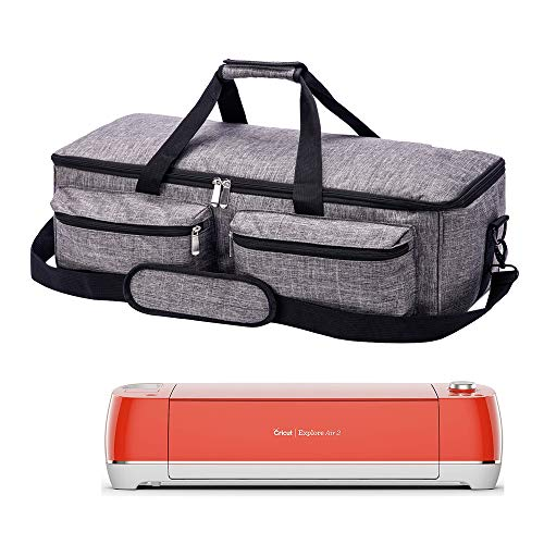 PICAN Foldable Carrying Bag Compatible with Cricut Explore Air and Maker, Tote Bag Compatible with Cricut Explore Air 2 and Silhouette Cameo 3 (Gray)