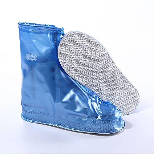 Bluelover Exterior Reutilizable Impermeable Zapatos Cubre Protector Lluvia Cubierta - XL - Azul