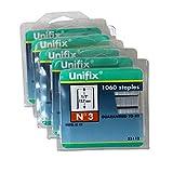 Unifix 1/2 Inch 12.7mm No.3 Staples, 10,600-Count