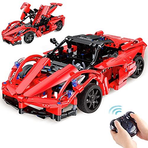 VATOS Bausteine Ferngesteuertes Auto ab 6 - 12 Jahren alt Jungen Mädchen 380 Teile Konstruktionsspielzeug 2.4GHz RC Auto Technic Car STEM Spielzeug Wiederaufladbarfür Kinder Jugendliche Erwachsene