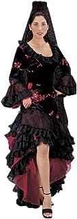 Women`s Black Spanish Flamenco Dancer Costume Dress