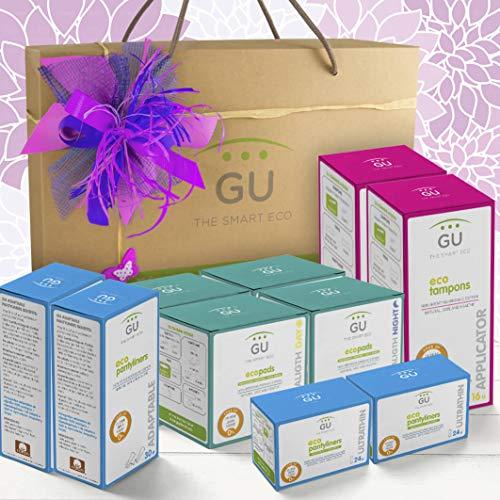 Pack ecológico Regalo Primera Menstruación - Regalo adolescente - Primera regla - Productos de algodón orgánico