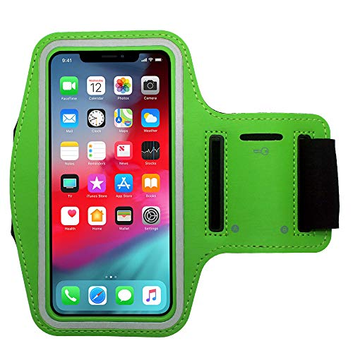 Cbus Wireless Brazalete Deportivo para Footing, Joging, Correr y Entrenar. Compatible con iPhone 12 Pro MAX/XR/XS MAX/8 Plus/7 Plus/6 Plus (Verde)