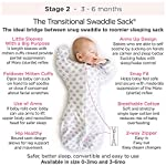 SwaddleDesigns-Transitional-Swaddle-Sack-Arms-Up-Half-Length-Sleeves-and-Mitten-Cuffs-Tiny-Triangles-Blue-Small-0-3mo-6-14-lbs-Parents-Picks-Award-Winner-Easy-Transition-with-Better-Sleep