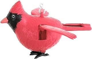 orasanta 1PC Solar Powered Fluttering Red Cardinal Bird with Hanger Flaps Wings Garden Decoration
