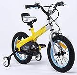 Royalbaby Vélo Freestyle Unisexe pour Enfant avec Bouton Jaune Mat 30,5 cm