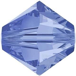 200pcs 6mm Adabele Austrian Bicone Crystal Beads Light Sapphire Compatible with Swarovski Crystals Preciosa 5301/5328 SSB614