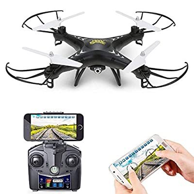 Holy Stone HS110 FPV Drone with 720P HD Live Video Wifi Camera 2.4GHz 4CH 6-Axis Gyro RC Quadcopter with Altitude Hold, Gravity Sensor and Headless Mode Function RTF helicopter for Kids and Beginners