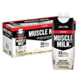 Contains twelve 11 fl oz bottles of Muscle Milk Genuine Protein Shake, packaging may vary 25 grams of protein per serving to help support muscle rebuilding, muscle growth, and maintenance of muscle mass Combination of high-quality slow releasing and ...