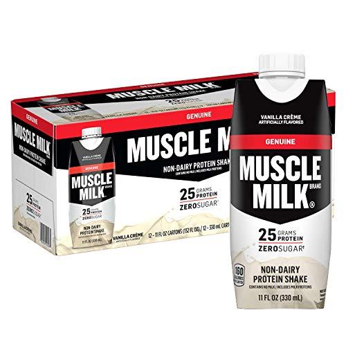Muscle Milk Genuine Protein Shake, Vanilla Crme, 25g Protein, 11 Fl Oz, 12 Pack