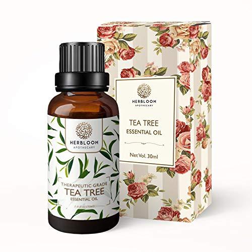 Aceite esencial orgánico Herbloom, 30 ml orgánico (árbol de té, 30 ml)