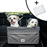Boosta Pooch Large Dog Car Seat Double or Single Ideal for Small or Medium Dogs Weighing up to 30 Pounds Grey