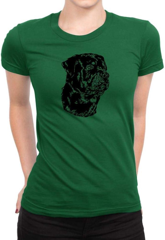 Rottweiler Face Special Graphic para mujer Camiseta de ...