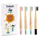 Isshah Kids Bamboo Toothbrushes Biodegradable Handle BPA Free Eco...