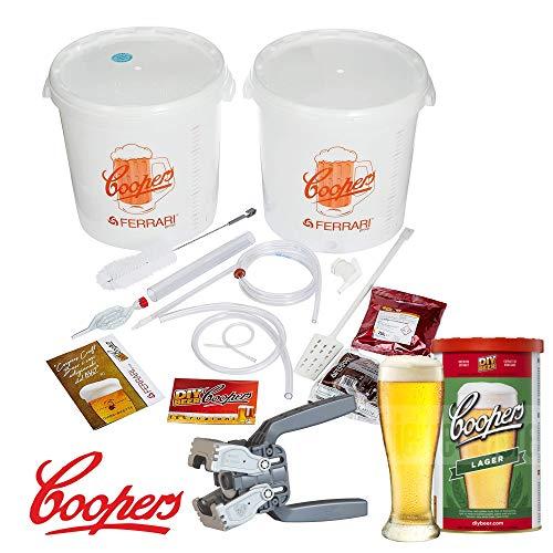 Coopers Lager Luxus-Bierbrauset mit Malz