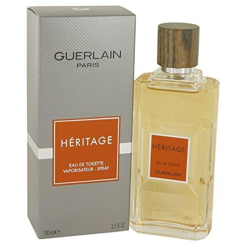 Guerlain Heritage - Agua de tocador vaporizator para Hombre, 100 ml