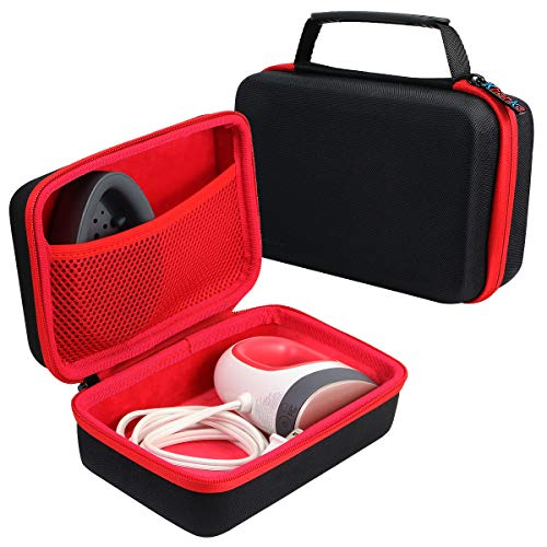 khanka Duro Viaje Estuche Bolso Funda para Cricut Easy Press Mini Máquina(caja solo) (Negro/rojo)