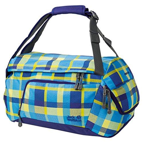 Jack Wolfskin Ramson 35Rucksack Tasche, Kinder, 2004471, Blue Woven Check, Einheitsgröße