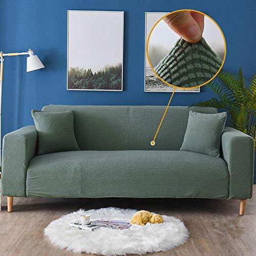 ARTEZXX Sofa Cover 1/2/3 Seater Effen Kleur Alle Inclusieve Verdikte Maïs Fleece Slipcover met Elastische Band, Wasbare Bank Meubelbescherming Voor woonkamer slaapkamer