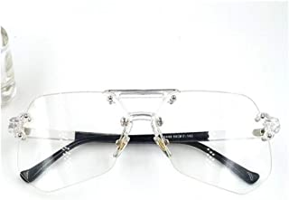 LUKEEXIN Women's Fashion Sunglasses, Transparent Flat Eyewear (Color : Transparent)