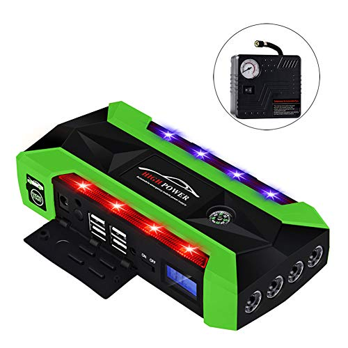 Lowest Price! Emergency Car Starter 12v Battery Booster 20000 Mah Lithium Battery Multi-Function Sma...