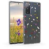 kwmobile Hülle kompatibel mit Samsung Galaxy S20 FE - Handyhülle - Handy Hülle Wildblumen Ranke Mehrfarbig Transparent