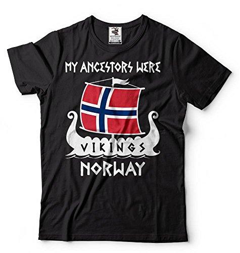 Silk Road Tees Arbol genealógico de los Hombres Vikingos Noruega Camiseta Vikings Roots Valhalla T Shirts
