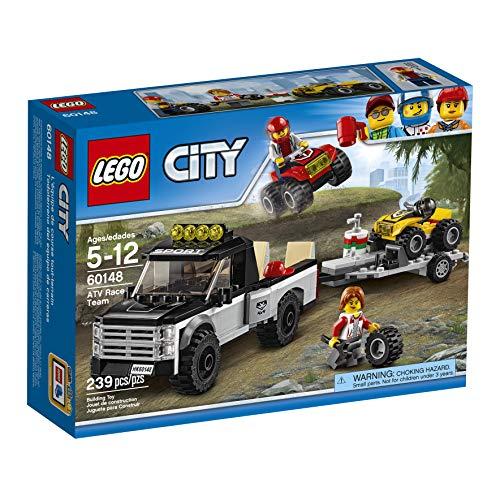 Super Équipe de Course Tout-Terrains Camion Pickup LEGO City - 60148 - 239 Pièces - 2