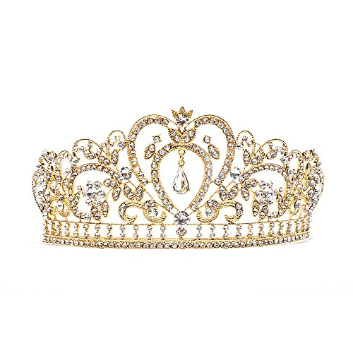 superstar shop Baroque Clear Rhinestone Crystal Tiara Crown