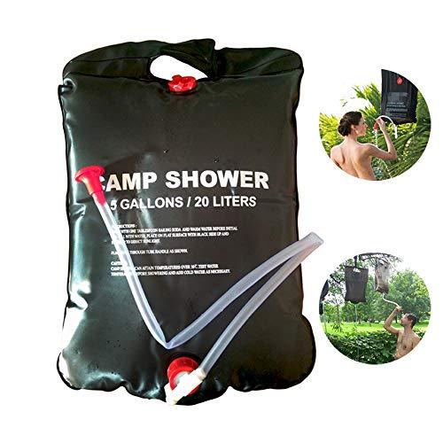 Sac de Douche Solaire pour Camping, 20L / 40L (5/10 Gallons), Sacs de Bain de Chauffage Solaire Portatif Fiable et Durable,40L