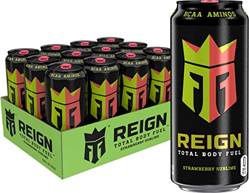Reign Total Body Fuel, Strawberry Sublime, Fitness & Performance Drink, 16 Oz (Pack of 12)
