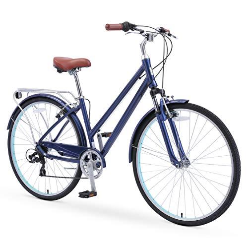 sixthreezero Pave n' Trail Women's 7-Speed Committed Rider, Hybrid Bike, Navy
