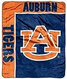 Northwest Auburn University Tigers 50x60 School Spirit Royal Plush Raschel Throw Blanket
