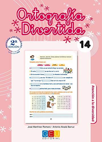 Ortografía divertida 14 / Editorial GEU / 5º Primaria / Mejora la ortografía / Recomendado como apoyo / Con actividades sencillas de repaso